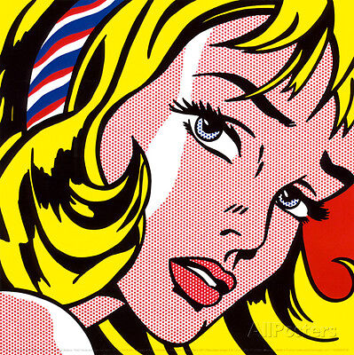 Girl with Hair Ribbon, c.1965 Art Print By Roy Lichtenstein - 12x12