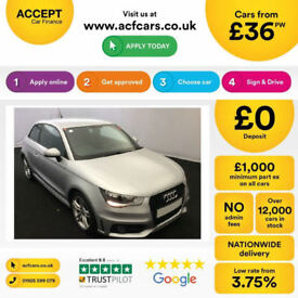 SILVER AUDI A1 1.0 1.2 1.4 T FSI SE SPORT S LINE BLACK EDITION FROM £36 PER WEEK