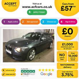 Grey BMW 118d M Sport 2.0 2014 143bhp 5 door Alloys FROM £57 PER WEEK!