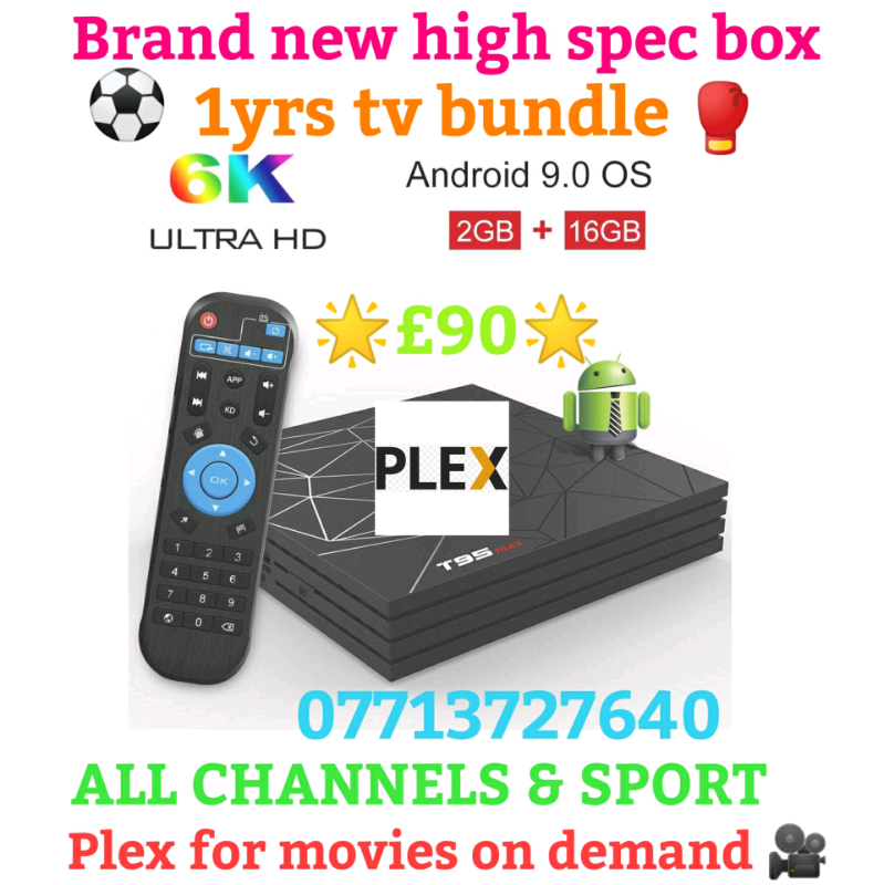 NEW 6K UHD TV BOX , 1 YRS TV PACKAGE + PLEX FOR MOVIES & LOTS MORE | in  Airdrie, North Lanarkshire | Gumtree
