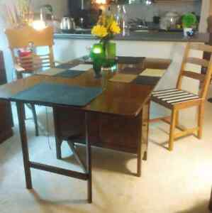 Antique Folding Dining Table (Wooden)