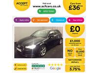 Black AUDI A3 SALOON 1.4 1.6 1.8 2.0 TDI Diesel SPORT FROM £36 PER WEEK!