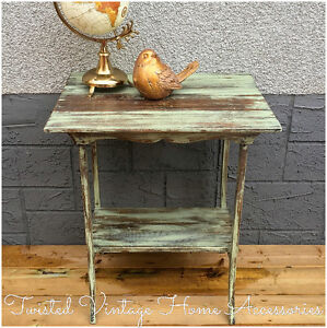 Gorgeous Vintage Rustic Shabby Chic Side / End Table
