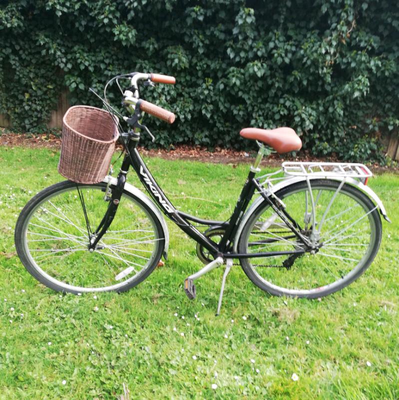 271f1bda96f Sold Ladies Viking Dutch Bike Bicycle Black and Brown Women Gears ...
