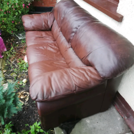 FREE. 3 seat leather sofa