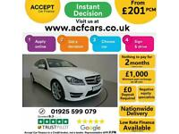 2015 WHITE MERCEDES C220 2.1 CDI AMG SPORT EDT PREMIUM CAR FINANCE FR £201 PCM