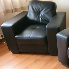 Pellissima Three Seater Sofa and Two Armchairs, Three Piece Suite.