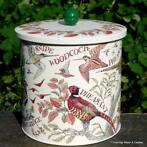 Emma Bridgewater biscuit barrel, caddy, tray, veel decors