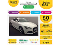 White AUDI TT COUPE 1.8 2.0 TDI Diesel ULTRA S LINE FROM £51 PER WEEK!