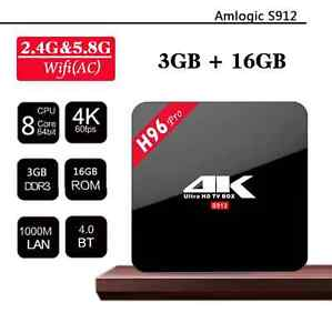 3GB RAM/16GB/ROM H96-Pro Amlogic S912 Octacore Android TV BOXES