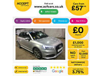 SILVER AUDI A1 1.0 1.2 1.4 T FSI SE SPORT S LINE BLACK EDITION FROM £57 PER WEEK