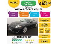 2011 BLACK JAGUAR XKR 5.0 V8 SUPERCHARGED 2DR COUPE CAR FINANCE FR £104 PW