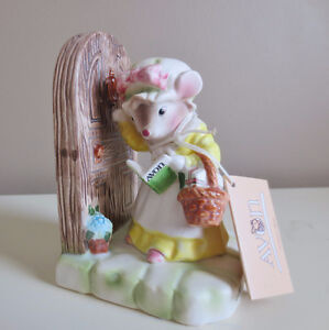 """Avon Precious Moments """"My First Call"""" Porcelain Mouse Figurine"""
