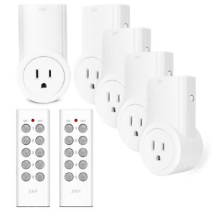 Programmable Wireless Remote Control Power Outlet On/Off Switch
