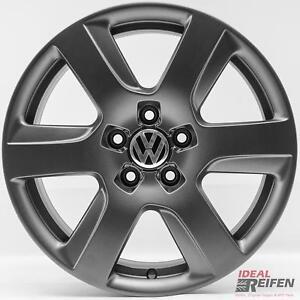 4-VW-EOS-1f-17-Pulgadas-Llantas-de-aluminio-7-5x17-Et37-original-Audi-TITANIO