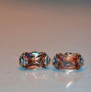 Gorgeous Topaz earrings set in Sterling Silver