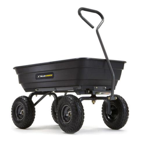 Gorilla Carts GOR4PS 600lb Poly Garden Dump Cart - Free Shipping