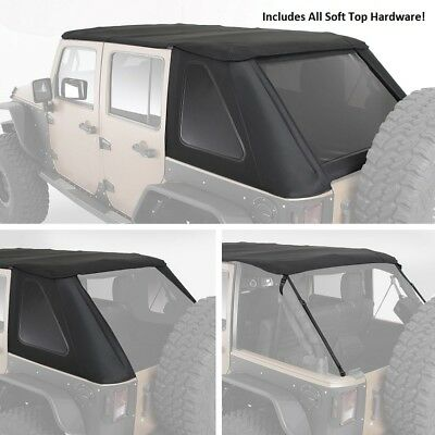(Smittybilt All In One Bowless Soft Top & Hardware Kit 07-18 4dr Jeep Wrangler JK)