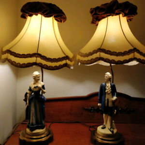 """31"""" tall French Antique lamps HIS & HER - Excellent condition"""