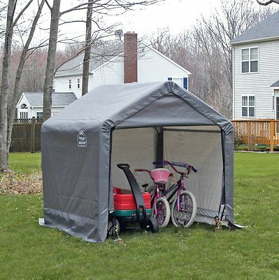 Canopy Storage Shed Outdoor Portable Garden Building Steel Yard Utility 6 x 6