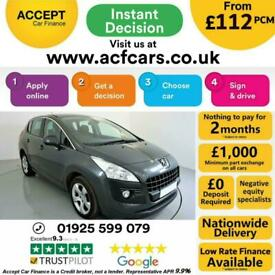 image for 2012 GREY PEUGEOT 3008 1.6 HDI ACTIVE DIESEL MANUAL MPV CAR FINANCE FR £112 PCM