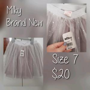 Girls Tutu, Size 7, Size 3-4, White dress, Girl Reversible Top