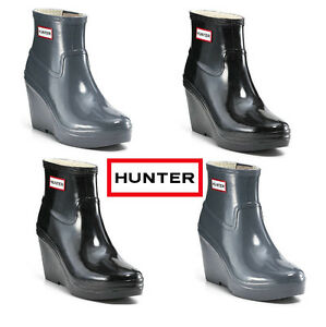HUNTER Wedge Classic Boots Size 5 I SHIP