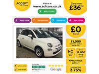 FIAT 500 1.0 1.2 1.3 M/JET BYDIESEL POP LOUNGE SPORT S TWINAIRFROM £36 PER WEEK