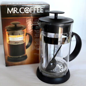 New Mr Coffee 1L Cafe Oasis French Press Coffee Tea Maker Glass