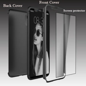 IPHONE 6s/7/8/X Plus 360 Degree protection Cases +Tempered Glass