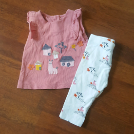 Top and leggings 0-3 mths