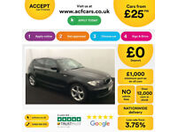 Black BMW 118d Sport 5 door 2011 70MPG Manual FROM £25 PER WEEK!