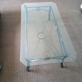 Metal framed Glass top Coffee Table