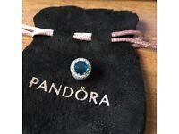 Pandora Silver Sky Blue Radiant Hearts Charm