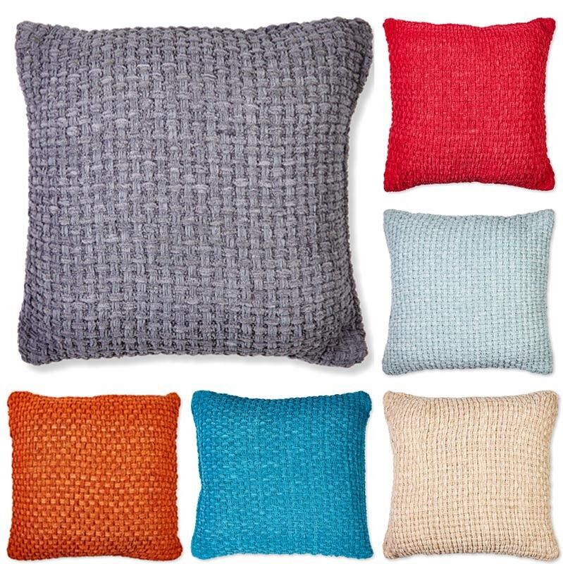 Luxury Chunky Chenille Knitted Cushion Covers Or Filled