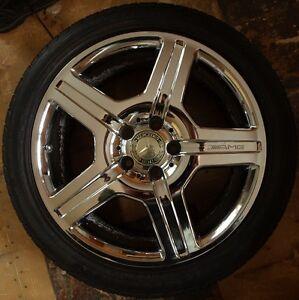 "Mercedes Chrome AMG Wheels / 18"" Kingston Kingston Area image 4"