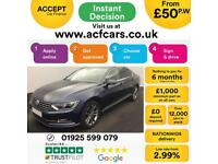 2015 BLUE VW PASSAT 2.0 TDI 150 GT DIESEL MANUAL SALOON CAR FINANCE FR £50 PW