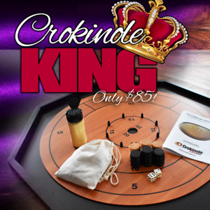 The Crokinole King Traditional Size Board Game Set for Christmas