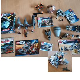 Lego Star Wars Bundle- new + used, 7957, 75126, 8033, 9675, 9490, 9118