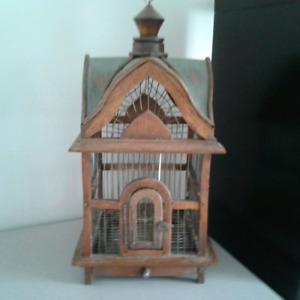 Cage oiseaux décorative ou pinsons