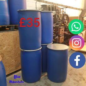 220 Litre / 48 Gallon Plastic Drum/Barrel for Shipping