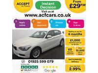 2013 WHITE BMW 118D 2.0 SE DIESEL AUTO 5DR HATCH CAR FINANCE FR 29 PW