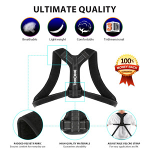 TooCool Brace Posture Corrector Adjustable for Women and Men .