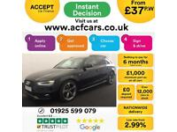 2013 BLACK AUDI A4 AVANT 2.0 TDI 143 BLACK EDITION DIESEL CAR FINANCE FR £37 PW