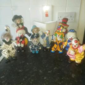 Collectable porcelain clowns
