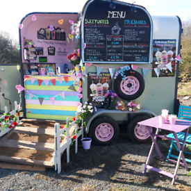 Converted horse box catering trailer catering van