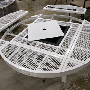 """White 55"""" white aluminum firepit  Clearance $199"""