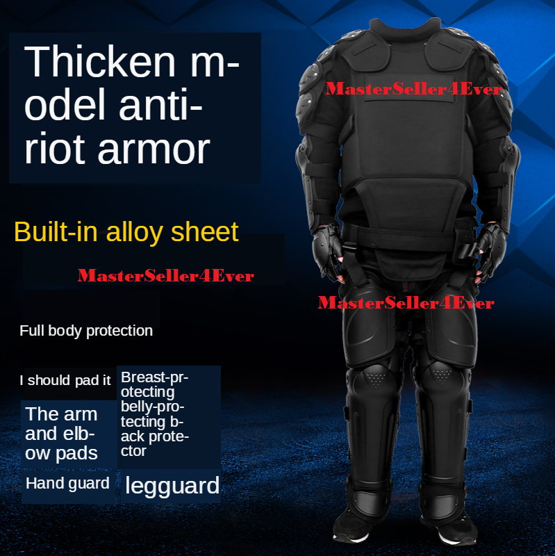 New Full Tactical Police Body Protective Anti Riot Armor Suit Emergency Survival