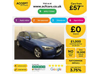 Blue BMW 118d M Sport 5 door 74mpg 1 owner FROM £57 PER WEEK!