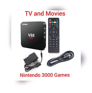 Android Box 6.0 V88 4K Newest CPU Kodi Nintendo & Atari